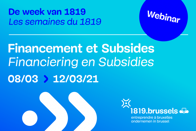 De week van de financiering en subsidies